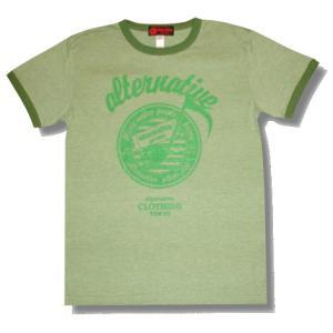 音符トリムTシャツ/グリーン/プレゼント/ギフト包装/ラッピング無料|alternativeclothing