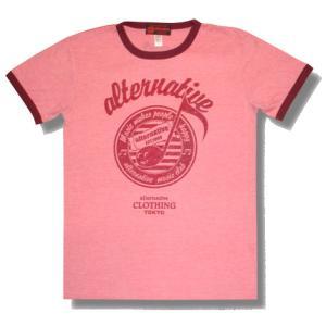 音符トリムTシャツ/ピンク/メンズ/レディース/プレゼント/ギフト包装/ラッピング無料|alternativeclothing