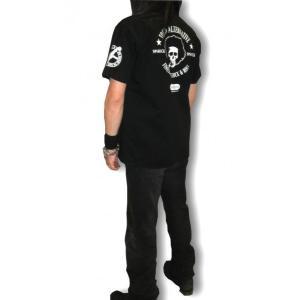 アフロスカル・ワークシャツ/メンズ/ドクロ/ブラック alternativeclothing 02