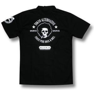 アフロスカル・ワークシャツ/メンズ/ドクロ/ブラック alternativeclothing 06