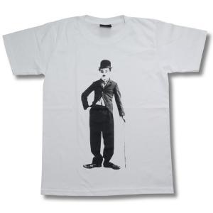 チャーリー・チャップリン/映画Tシャツ/白/黄金狂時代/キッド/モダン・タイムス|alternativeclothing