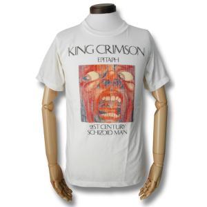 KING CRIMSON/キング・クリムゾン/EPITAPH/21ST CENTURY SCHIZOID MAN/バンドTシャツ/メンズ/ホワイト|alternativeclothing