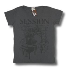 SESSION/セッション/ダークグレー/半袖/ウォッシュ加工/ロックTシャツ/バンドTシャツ/Capital Radio One/キャピタル・レディオ・ワン alternativeclothing