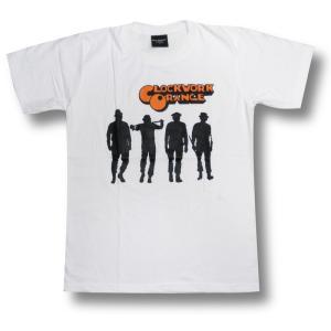 Tシャツ 時計じかけのオレンジ 影 映画 ロック 白 メンズ|alternativeclothing