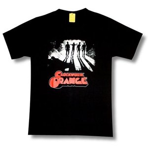 CLOCKWORK ORANGE/時計仕掛けのオレンジ/赤ロゴ/映画Tシャツ/黒/メンズ/レディース|alternativeclothing