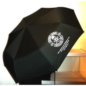 スカル/傘/アンブレラ/折りたたみ/ワンタッチ/髑髏/ドクロ/ガイコツ/骸骨/ブラック/雨|alternativeclothing