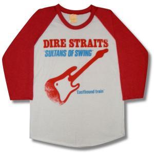 DIRE STRAITS/ダイアー・ストレイツ/SULTANS OF SWING/ラグラン七分袖Tシャツ/メンズ/レディース/ロックTシャツ/バンドTシャツ|alternativeclothing