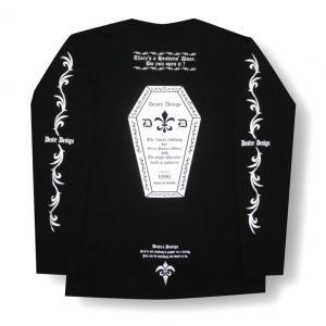かんおけ/棺桶/ロンT/ロック/バイク/長袖/Tシャツ/黒/Desire Design|alternativeclothing