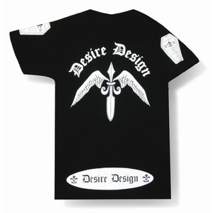 翼剣/Wing Sword/Tシャツ/ゴシック/ロック/パンク/バイカー/Tシャツ/黒/メンズ/レディース/半袖/ブラック|alternativeclothing