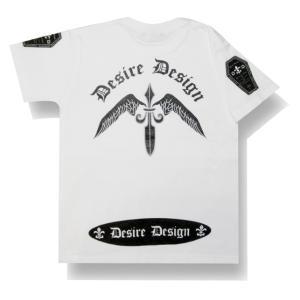 翼剣/Wing Sword/Tシャツ/ゴシック/ロック/パンク/バイカー/Tシャツ/白/メンズ/レディース/半袖/ホワイト|alternativeclothing