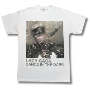 LADY GAGA/レディ・ガガ/ダンス・イン・ザ・ダーク/Tシャツ/バンドTシャツ/白 alternativeclothing