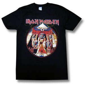 Tシャツ バンドTシャツ IRON MAIDEN Powerslave アイアン・メイデン パワースレイヴ 黒 alternativeclothing