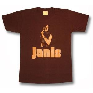 ジャニス・ジョプリン/茶/ロックTシャツ/JANIS JOPLIN/バンドTシャツ|alternativeclothing