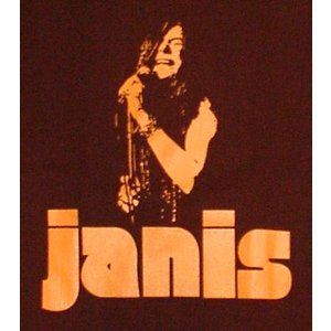 ジャニス・ジョプリン/茶/ロックTシャツ/JANIS JOPLIN/バンドTシャツ|alternativeclothing|02