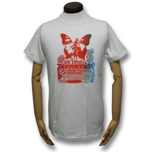 ジミ・ヘンドリクス・Tシャツ/Guitar Festival/白/メンズ/ロックTシャツ/バンドTシャツ|alternativeclothing