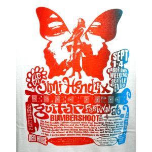 ジミ・ヘンドリクス・Tシャツ/Guitar Festival/白/メンズ/ロックTシャツ/バンドTシャツ|alternativeclothing|02