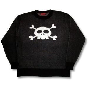 ドクロ/セーター/キュートなスカル/黒/メンズ/レディース/フリーサイズ/国産|alternativeclothing