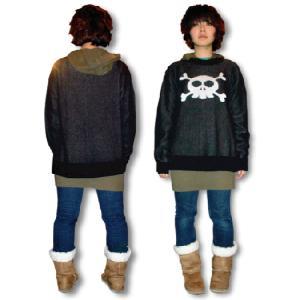 ドクロ/セーター/キュートなスカル/黒/メンズ/レディース/フリーサイズ/国産 alternativeclothing 02