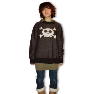 ドクロ/セーター/キュートなスカル/黒/メンズ/レディース/フリーサイズ/国産 alternativeclothing 03