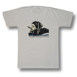 KURT COBAIN/カート・コバーン/白/NIRVANA /ニルヴァーナ/Tシャツ/ロックT/バンドT|alternativeclothing