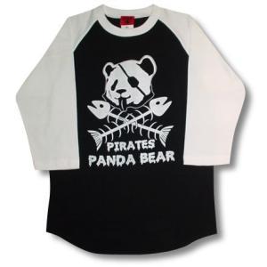 海賊パンダ/ラグラン/七分袖/Tシャツ/メンズ|alternativeclothing
