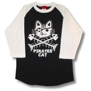 海賊ネコ/ラグラン/七分袖/Tシャツ/メンズ|alternativeclothing
