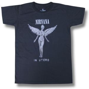NIRVANA IN UTERO ニルヴァーナ イン・ユーテロ メンズ ロックTシャツ バンドTシャツ|alternativeclothing