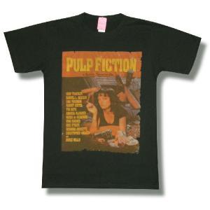 Tシャツ パルプ・フィクション PULP FICTION チャコール  ユマ・サーマン ジョン・トラボルタ 映画 タランティーノ メンズ|alternativeclothing