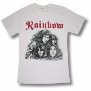 RAINBOW/レインボー/バビロンの城門/白/ロックTシャツ/バンドTシャツ/メンズ alternativeclothing