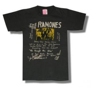 RAMONES/ラモーンズ/Too Tough to Die/ポスター/チャコール/メンズ/レディース/ロックT/バンドTシャツ/半袖|alternativeclothing