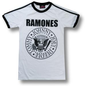 Tシャツ ラモーンズ RAMONES サッカー クルーネック バンド ロック 白 メンズ|alternativeclothing