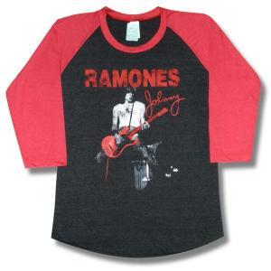 ラモーンズ/ジョニー・ラモーン/ラグラン七分袖Tシャツ/メンズ/レディース/ロックTシャツ/バンドTシャツ|alternativeclothing