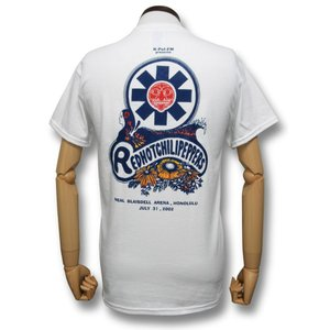 レッチリ'02ホノルル・ツアー/RED HOT CHILI PEPPERS/ホワイト/ロックTシャツ/バンドTシャツ/メンズ/レディース|alternativeclothing