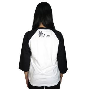 ファミリー/ラグラン/Tシャツ/七分袖/パロディ/サザエさん/バカ/アホ/スカル/ドクロ|alternativeclothing|05