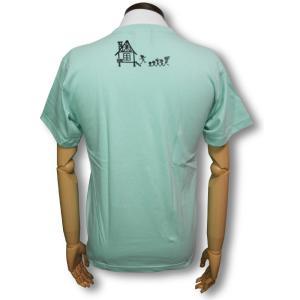 スカル・ファミリー/ドクロ/Tシャツ/ライトブルー/サザエさん/パロディ/メンズ/レディース|alternativeclothing|02