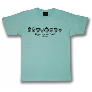 スカル・ファミリー/ドクロ/Tシャツ/ライトブルー/サザエさん/パロディ/メンズ/レディース|alternativeclothing|04