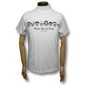 スカル・ファミリー/ドクロ/Tシャツ/白/サザエさん/パロディ/メンズ/レディース|alternativeclothing