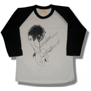 スラッシュ/SLASH/ポートレート/メンズ/レディース/ガンズ&ローゼス/ラグランTシャツ/七分袖|alternativeclothing