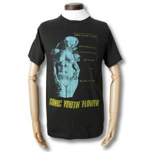 Tシャツ ソニック・ユース SONIC YOUTH フラワー FLOWER チャコール ロック バンド|alternativeclothing