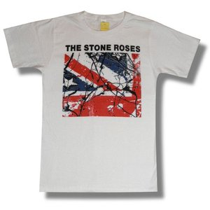 THE STONE ROSES/ストーン・ローゼス/ユニオン・ジャック/白/ロックTシャツ/バンドTシャツ|alternativeclothing