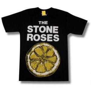 STONE ROSES/ストーン・ローゼス/レモン/黒/メンズ/レディース/ロックTシャツ