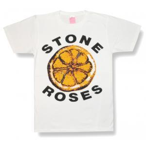 ストーンローゼス/レモン/STONE ROSES/ホワイト/大ロゴ/白/ロックTシャツ/メンズ/レディース/バンドTシャツ/半袖|alternativeclothing