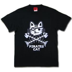 海賊ネコTシャツ/メンズ/レディース|alternativeclothing