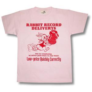 デリバリーうさぎTシャツ/ピンク/メンズ/レディース/プレゼント/ギフト包装/ラッピング無料 alternativeclothing