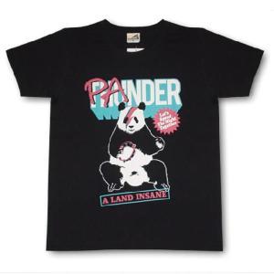 パンダTシャツ/レディース/メンズ/黒/サンダー/ロックTシャツ alternativeclothing