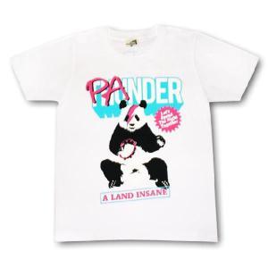 パンダTシャツ/レディース/メンズ/白/サンダー/ロックTシャツ alternativeclothing