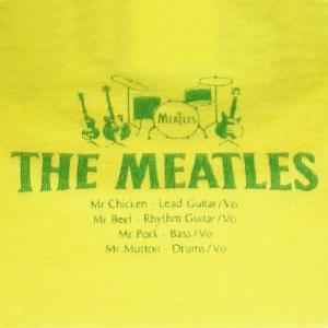 ミートルズ/THE MEATLES/パロディ/バンドTシャツ/メンズ/レディース/イエロー|alternativeclothing|04
