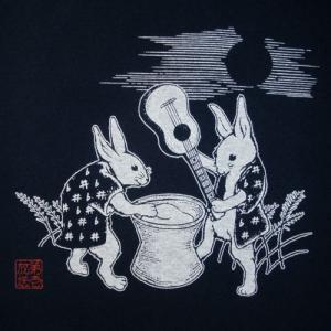 餅つきウサギTシャツ/ネイビー/うさぎ/キャピタルレディオワン/メンズ/レディース|alternativeclothing|03