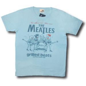 ミートルズ/パロディ/Tシャツ/メンズ/レディース/ライトブルー/バンドTシャツ/キャピタル・レディオ・ワン|alternativeclothing
