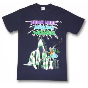ユーライア・ヒープ/悪魔と魔法使い/URIAH HEEP/Tシャツ/紺/ロックTシャツ/バンドTシャツ|alternativeclothing